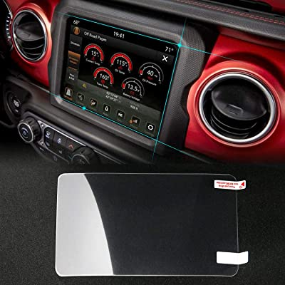 "Media Center Protective Film for 2020 Jeep Wrangler JL U-Connect 8.4"" Navigation Touch Screen, JeCar Nanometer Screen Protector Ultra Thin & Fingerprint Proof: Automotive"