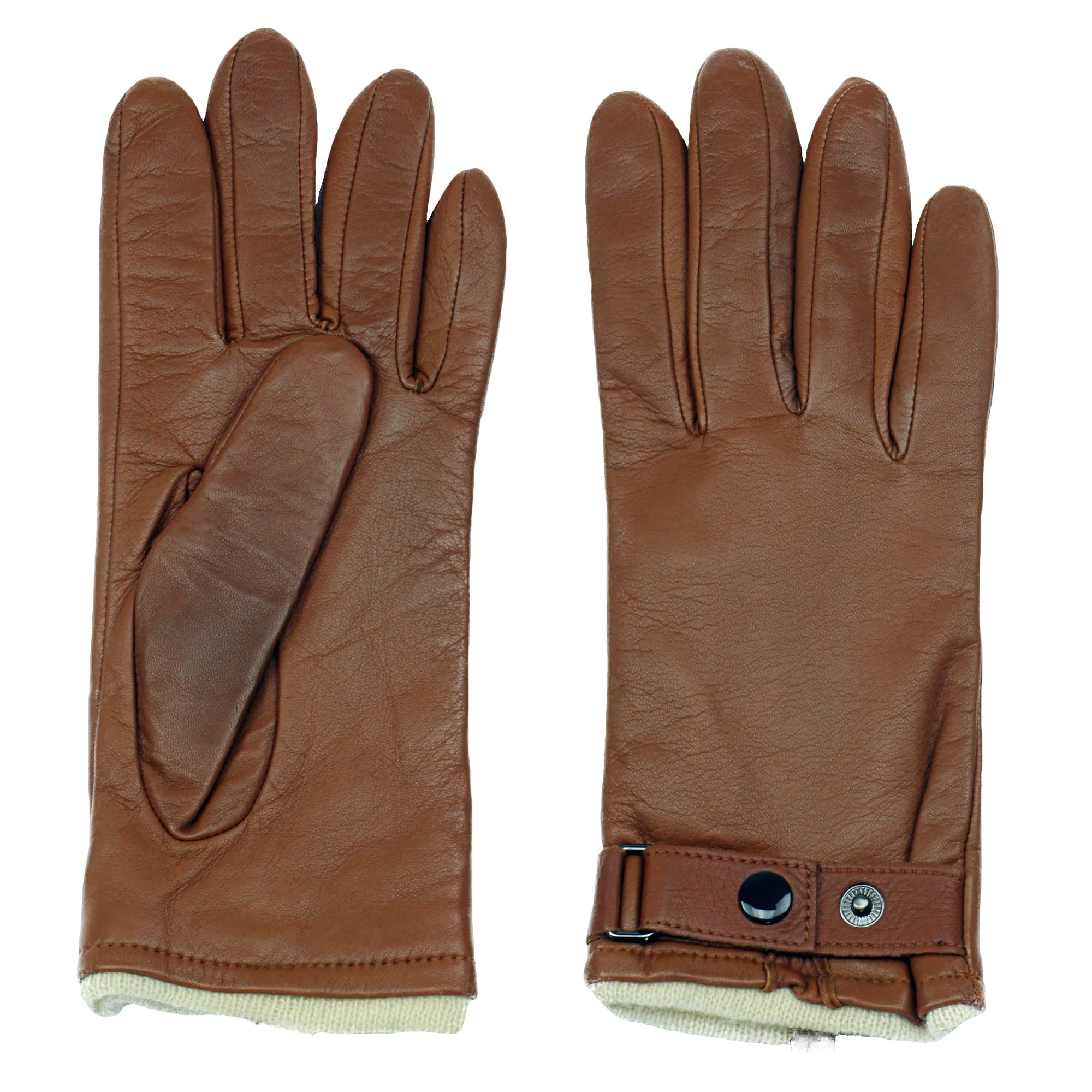 Women's PREMIERE Sheepskin Leather Driving Glove | Cashmere Lined | by GRANDOE (Saddle Cream, 6.5)