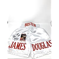 $89 » James Buster Douglas Signed Autograph Boxing Trunks TYSON Knockout Inscribed JSA Witnessed Certified