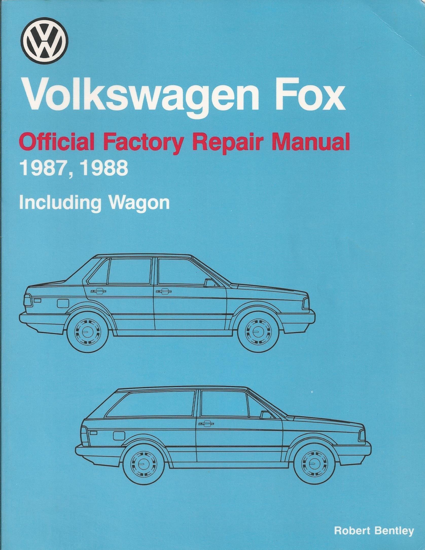 Volkswagen Fox official factory repair manual 1987, 1988 including wagon (Volkswagen  service manuals): Robert Bentley: 9780837603605: Amazon.com: Books