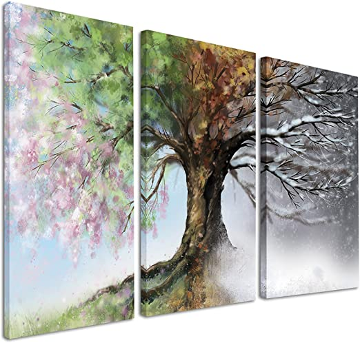 Water Colour Lake Tree Landscape Painting Wall Art Large Poster Canvas Picture