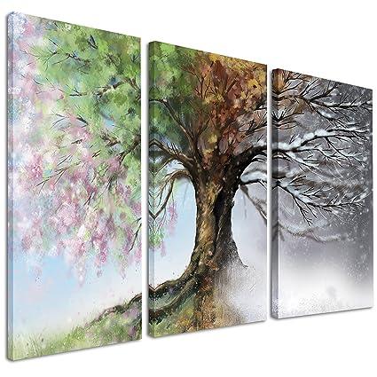 amazon com designart design pt9283 3p four seasons print 36x28in