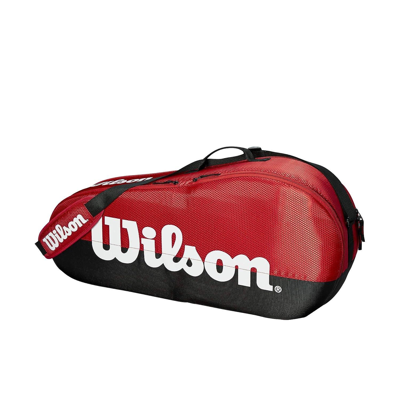 大人気 Wilson Team テニスバッグシリーズ 1 B07JCDDB65 Racket ブラック/レッド Hold 3 Racket Hold 3 Racket Hold|ブラック/レッド|チーム 1, 邇摩郡:6df65d03 --- vanhavertotgracht.nl