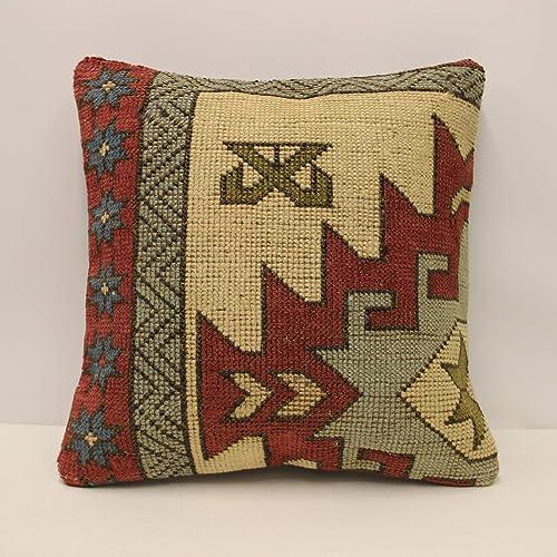 Admirable Amazon Com Rug Pillow Cover 20X20 Inches Handwoven Inzonedesignstudio Interior Chair Design Inzonedesignstudiocom