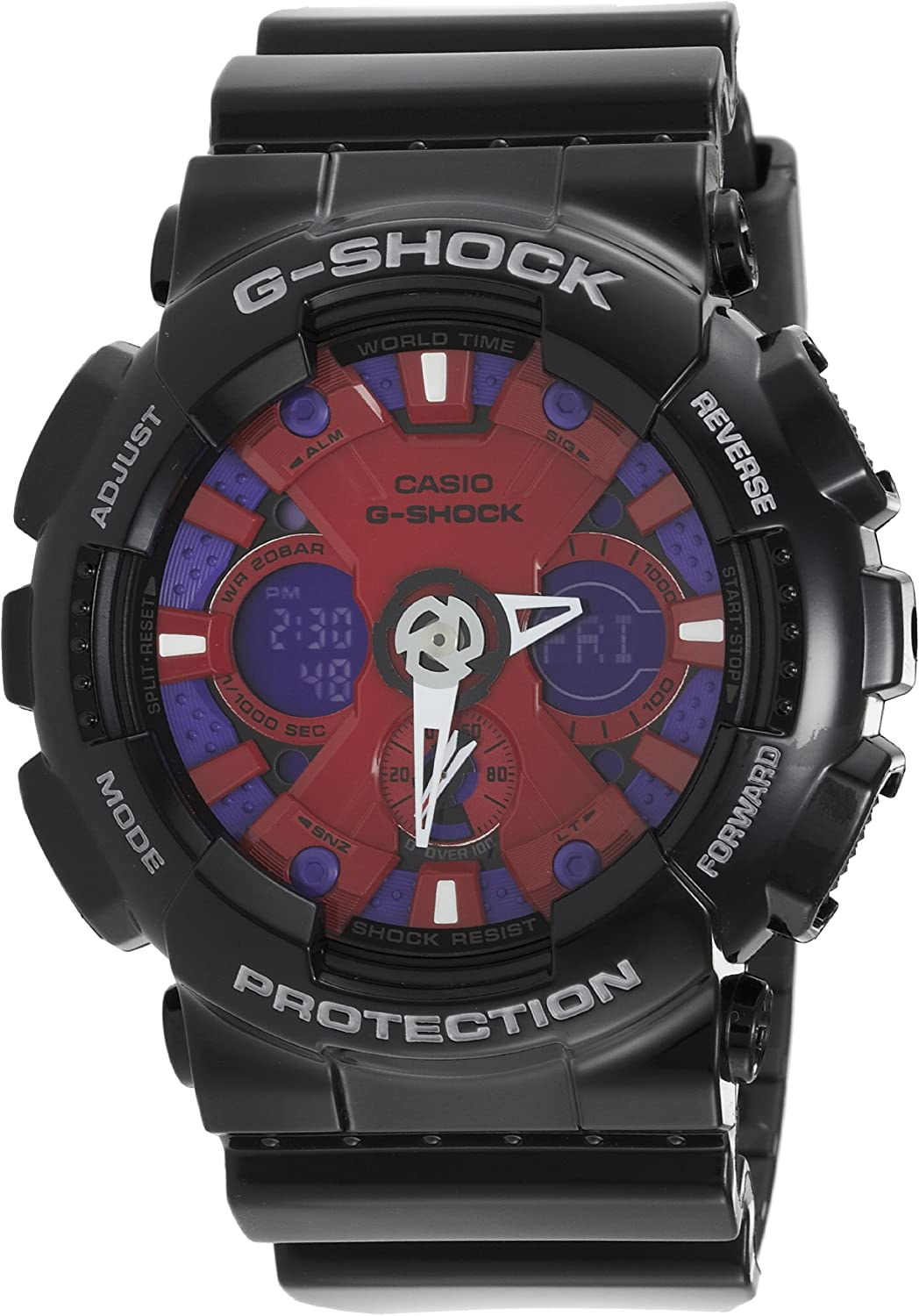 Casio G-Shock Ana-Digi Speed Indicator rot Dial Men'S Watch #Ga120B-1A