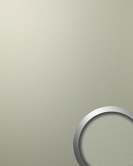 Panel decorativo autoadhesivo de lujo WallFace 12439 DECO CHAMPAGNE Optica de metal mate-brillante gris