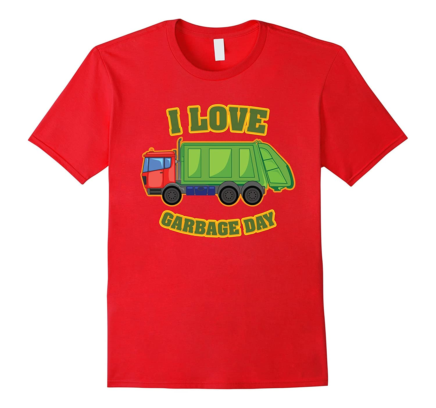 Garbage Day Trash Truck T Shirt for Kids and Toddlers-Vaci