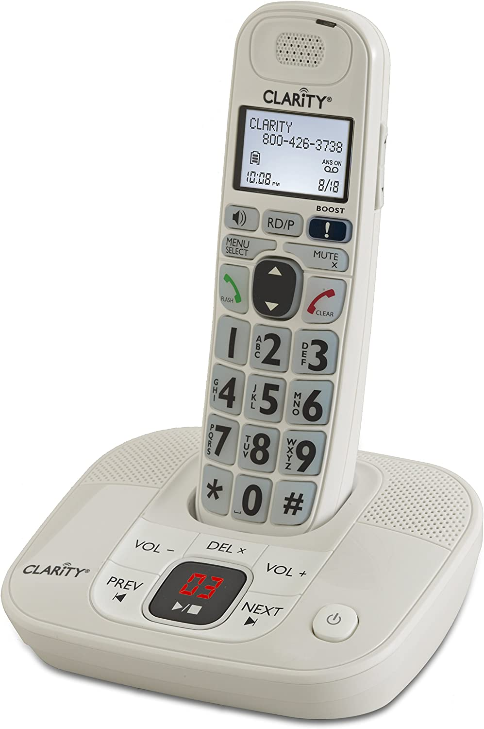 Amazon Com Clarity 53714 000 D714 Moderate Hearing Loss Cordless Amplified Phone With Dect 6 0 Technology Office Products