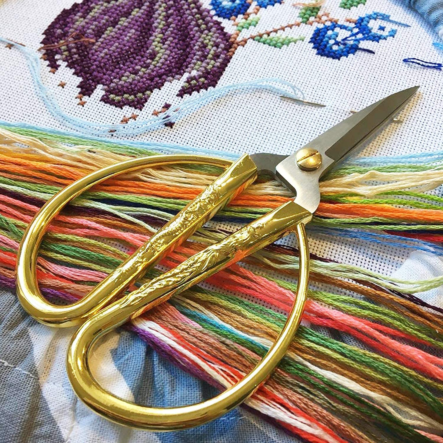Cross Stitch Threads Multicolor Crafts Floss Rainbow Color Embroidery Floss 105 Skeins Per Set Friendship Bracelets Floss