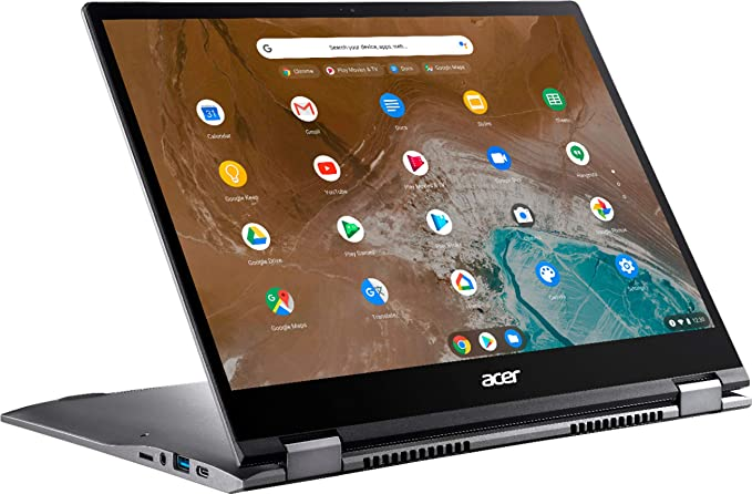 """Acer - Chromebook Spin 713 2-in-1 13.5"""" 2K VertiView 3:2 Touch - Intel i5-10210U - 8GB Memory - 128GB SSD – Steel Gray 