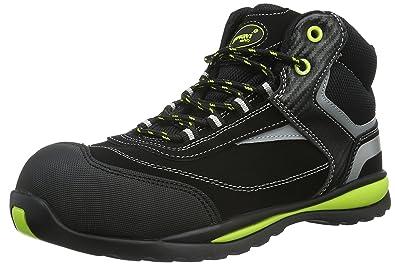 Gevavi GS38 Falcon WERKS S1P HG - Zapatos De Seguridad de Piel Unisex Adulto, Color Negro, Talla 37