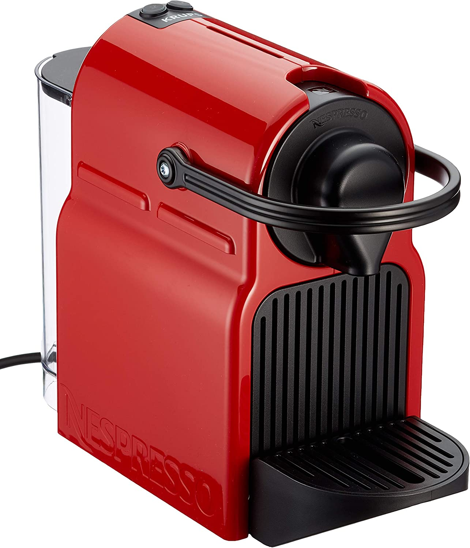 Krups XN1005 Nespresso Inissia - Cafetera monodosis de cápsulas Nespresso, 19 bares, apagado automático, Color Rojo: Amazon.es: Hogar