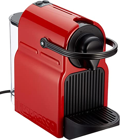 Krups XN1005 Nespresso Inissia Cafetera monodosis de cápsulas Nespresso, 19 bares, apagado automático, Color Rojo