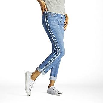 2da25b6a LEE Women's Modern Series Curvy-Fit Ruby Boyfriend Jean at Amazon Women's  Jeans store