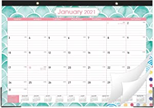 "2021 Desk Calendar - 12 Monthly Desk/Wall Calendar, 17"" x 12"", Large Desk Calendar 2021, Large Ruled Blocks, Tear Off, Perfect Desk Calendar for Planning and Organizing You Home and Office"