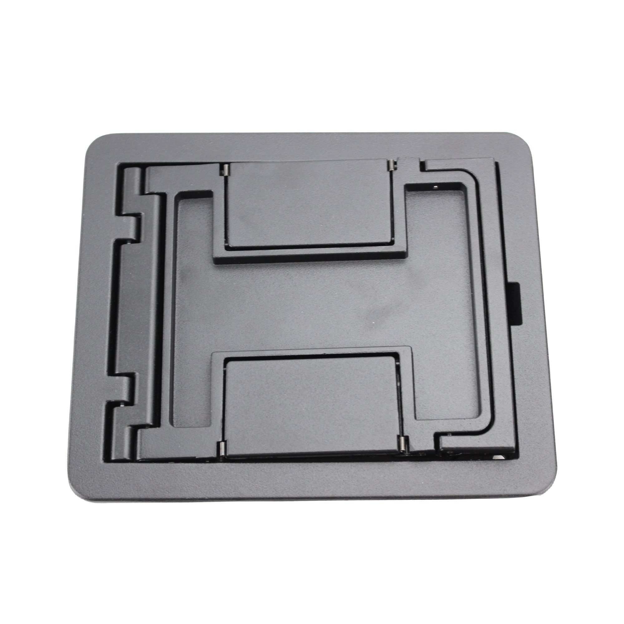 Wiremold FPCTCBK Die Cast Aluminum Flanged Cover Assembly 6-1/2 Inch x 7-3/4 Inch FloorPort™