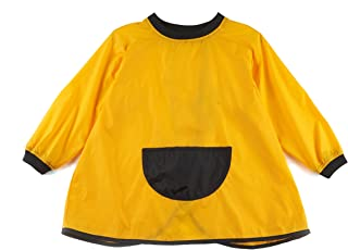 Yes Way Waterproof Unisex Bibs Art Smock for Babies and Toddles with Long Sleeves and Feeding Pocket 2-10 Years 2 Packs