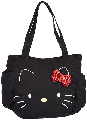 fcb6b1186ec5 Vans Women s Bag Large Glitter Hello Kitty Design (hellokitty) blk  Size 0.08 x