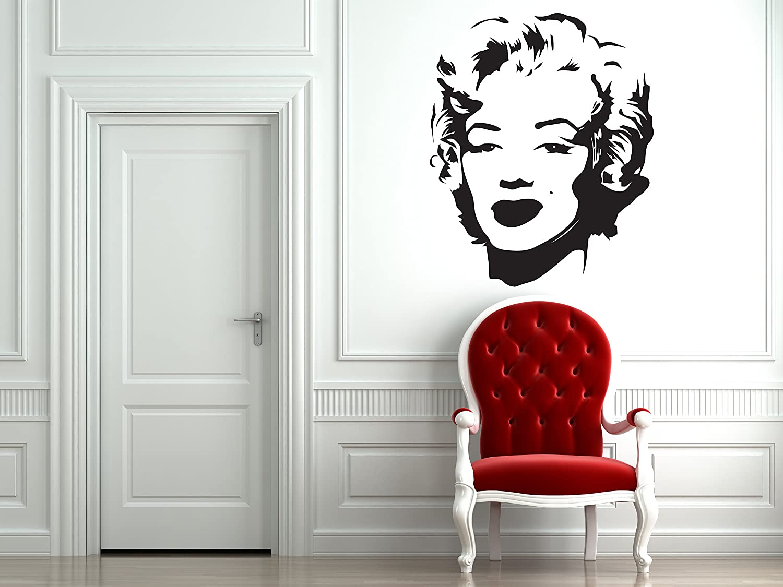 CreativeWallDecals Wall Decal Vinyl Sticker Merlin Monroe Woman Beauty Bedroom Dorm B231