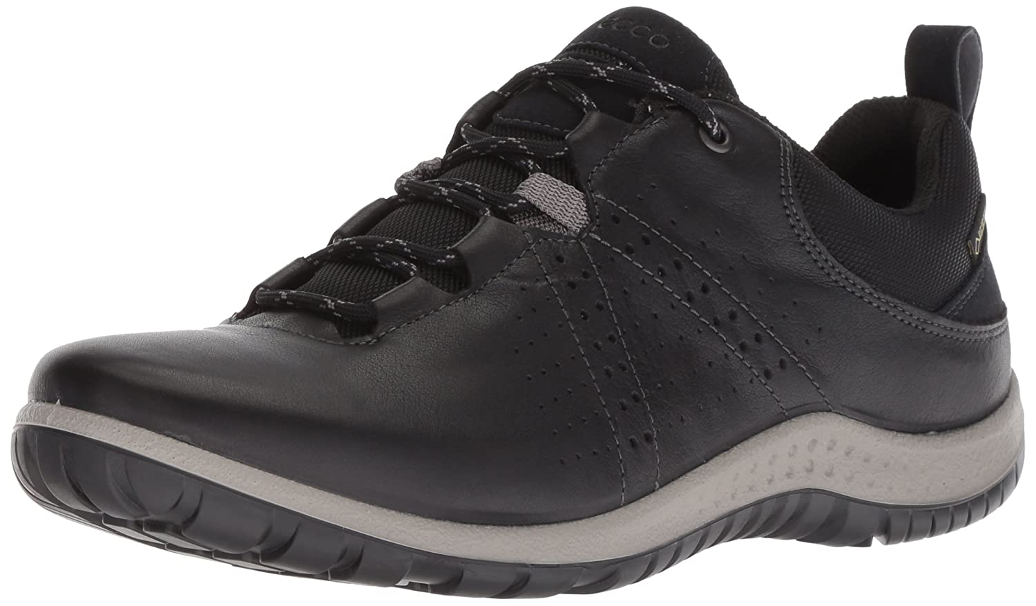 ECCO Women's Aspina Low Hiking Shoe B076ZXSJPS 37 M EU (6-6.5 US)|Black/Black