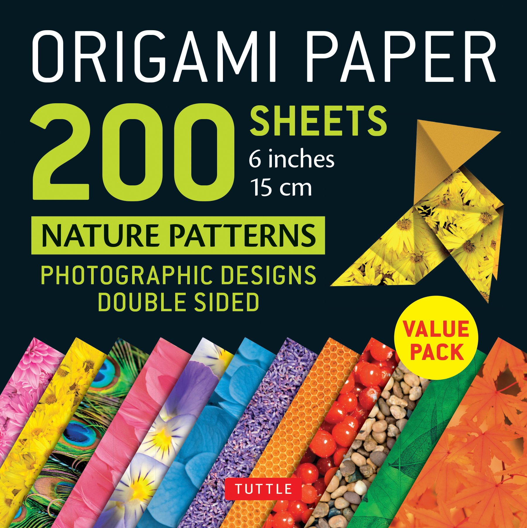 Origami Paper 200 Sheets Nature Patterns 6 (15 CM) (Stationery)