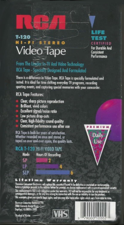 RCA T120 Hi-Fi Premium Grade VHS Video Tapes 3 Pk