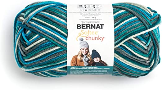Spinrite 161129-29121 Softee Chunky Ombre Yarn-Shadow