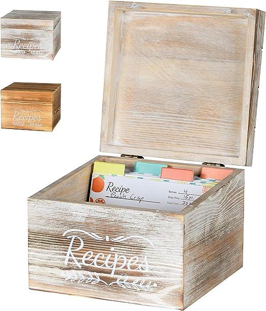 Amazon Com Pinelive Caja De Recetas Con Tarjetas Y Divisores De