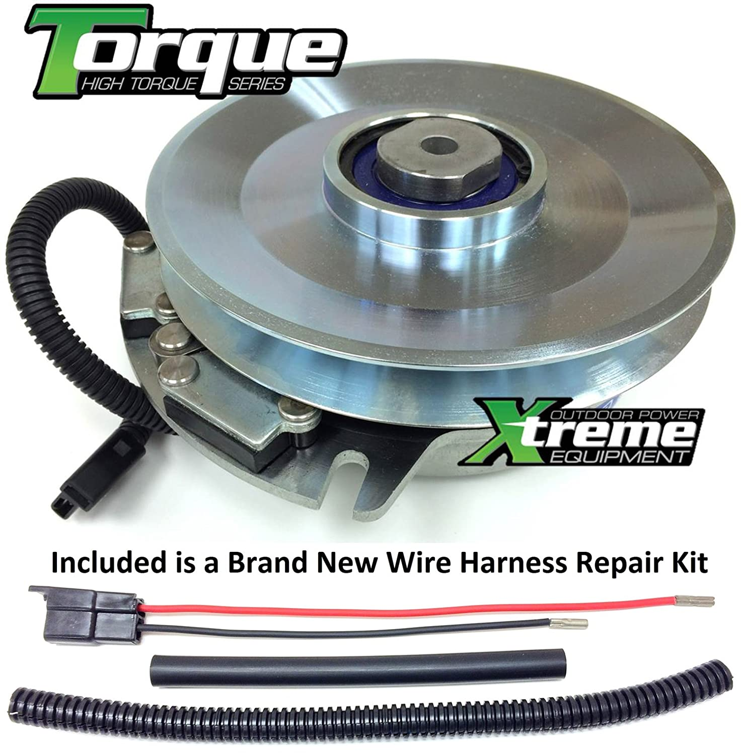 Amazon.com : Xtreme Outdoor Power Equipment Bundle - 2 items: PTO Electric  Blade Clutch, Wire Harness Repair Kit. Replaces Exmark Electric PTO Blade  Clutch ...