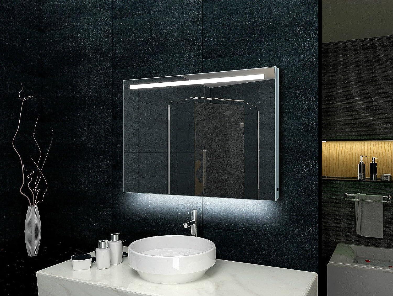Lux aqua design bagno specchio telaio in alluminio led