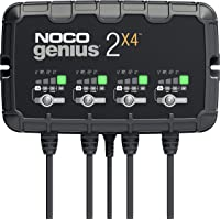 NOCO GENIUS2X4, 4-Bank, 8-Amp (2-Amp Per Bank) Fully-Automatic Smart Charger, 6V And 12V Battery Charger, Battery…