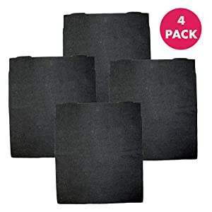 "Crucial Air Replacement Carbon Air Filters Compatible with Air Purifier Parts 8171434K, 8171434 for Model AP300, AP350, AP450 and AP510-16.4"" x 12.1"" x 1.3"" - Bulk (4 Pack)"