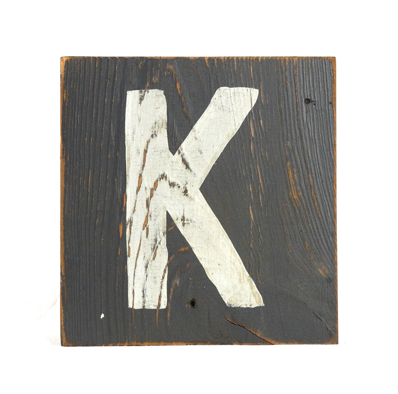 zentique Buchstabe aus Holz - klein - Monogramm K