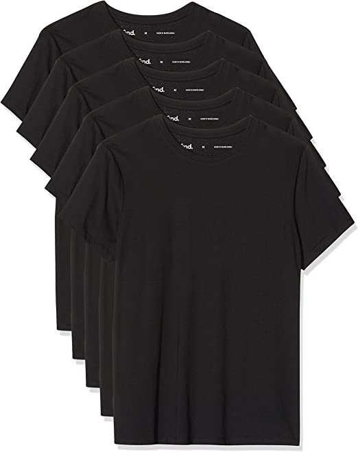 find Pacco da 5 Marchio T-Shirt Slim Fit Uomo
