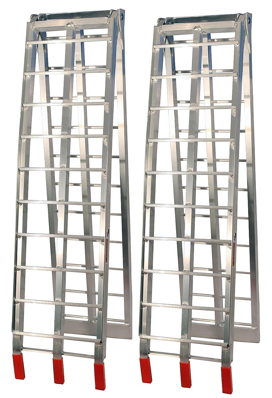 Silver Aluminium Arched Folding Loading Ramps Job Pro ATV-002-S