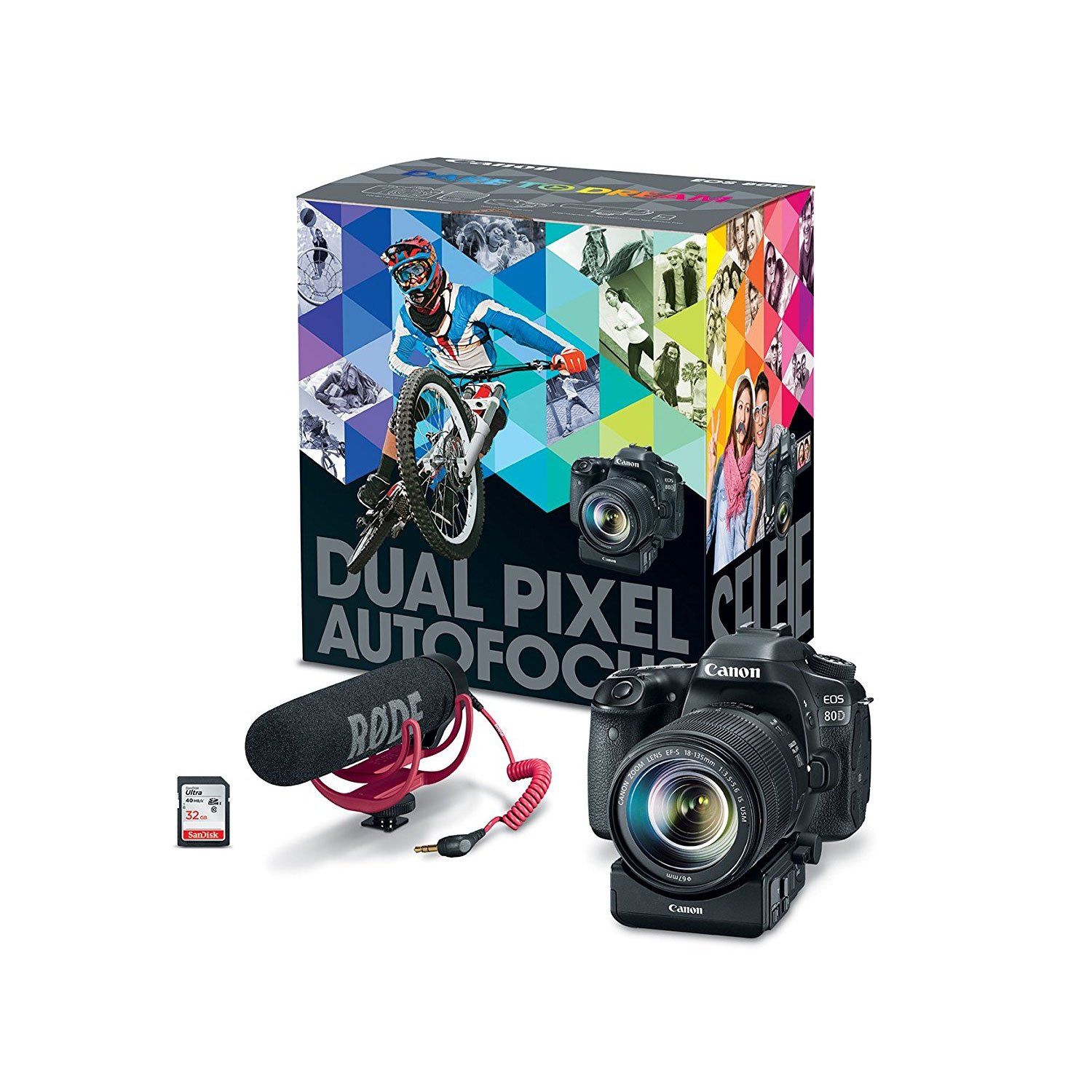 Canon EOS Rebel 80D Digital SLR Camera Video Creator Kit with EF-S ...