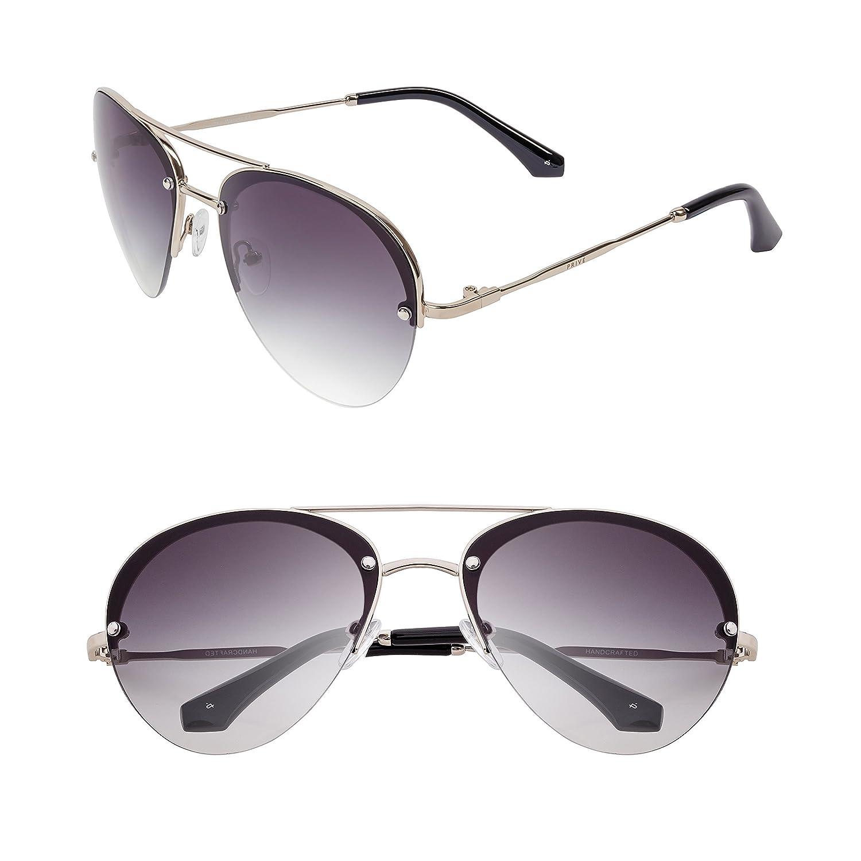 """3e53f8f201b9 Amazon.com  PRIVÉ REVAUX """"The Warrior"""" Handcrafted Designer Aviator  Sunglasses For Men   Women  Clothing"""