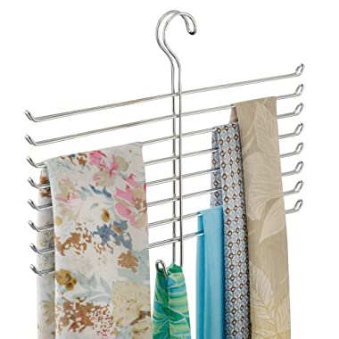 InterDesign Classico Spine Scarf Closet Organizer Hanger, Hanging Storage Ideal for Bedrooms, Mudrooms, Dorm Rooms, No Hardware Required, 12.6  x 16  x .75 , Holder