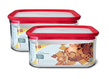 Amazoncom Glad Dry Food Storage container 12 L 5 cups Flat
