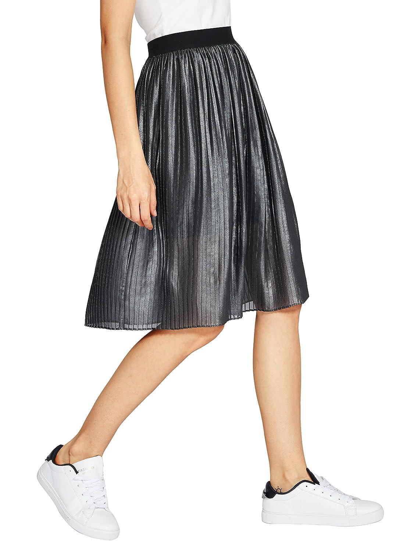 9eba7f2026 Urban CoCo Women's Midi Skirt Accordion Pleated A-Line Skirt ...