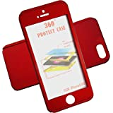 AccWorld Wine Red / Maroon Colour 360 Degree Slim Fit Full Body Protection Hybrid Case Cover for Apple Iphone 4/4s ( includes front & back cover & screen tempered glass )