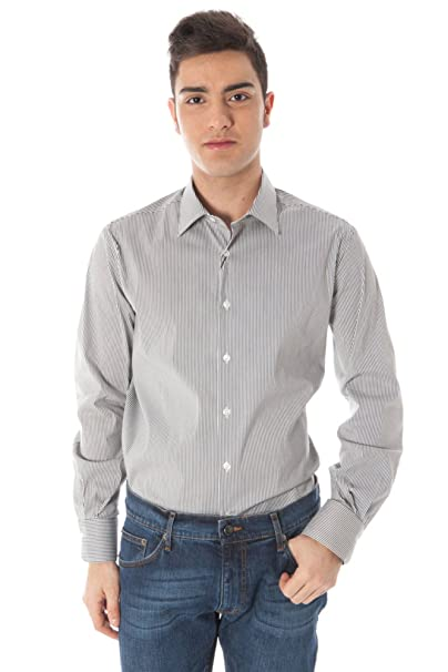 Gianfranco Ferrè 69 X 626SC 48232 Camisa con Las Mangas largas Hombre Blanco R900 39