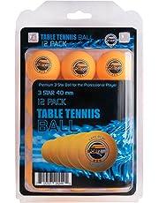 Sportly  3 Star 40mm Training Table Tennis Balls (Orange, 12)