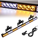 Traffic Advisor Light Bar 35.5 Inch 13 Flash Patterns 32 Led Warning Emergency Strobe Light Bar Directional Flashing Led…