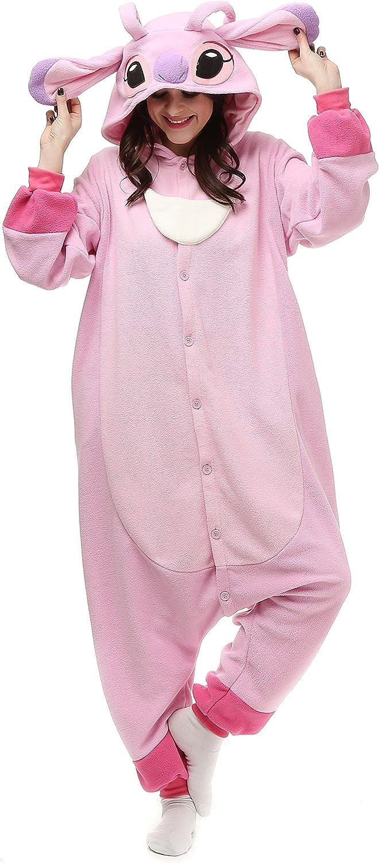 Adult Stitch Onesie Animal Pajamas Halloween Cosplay Costumes Party Wear Blue