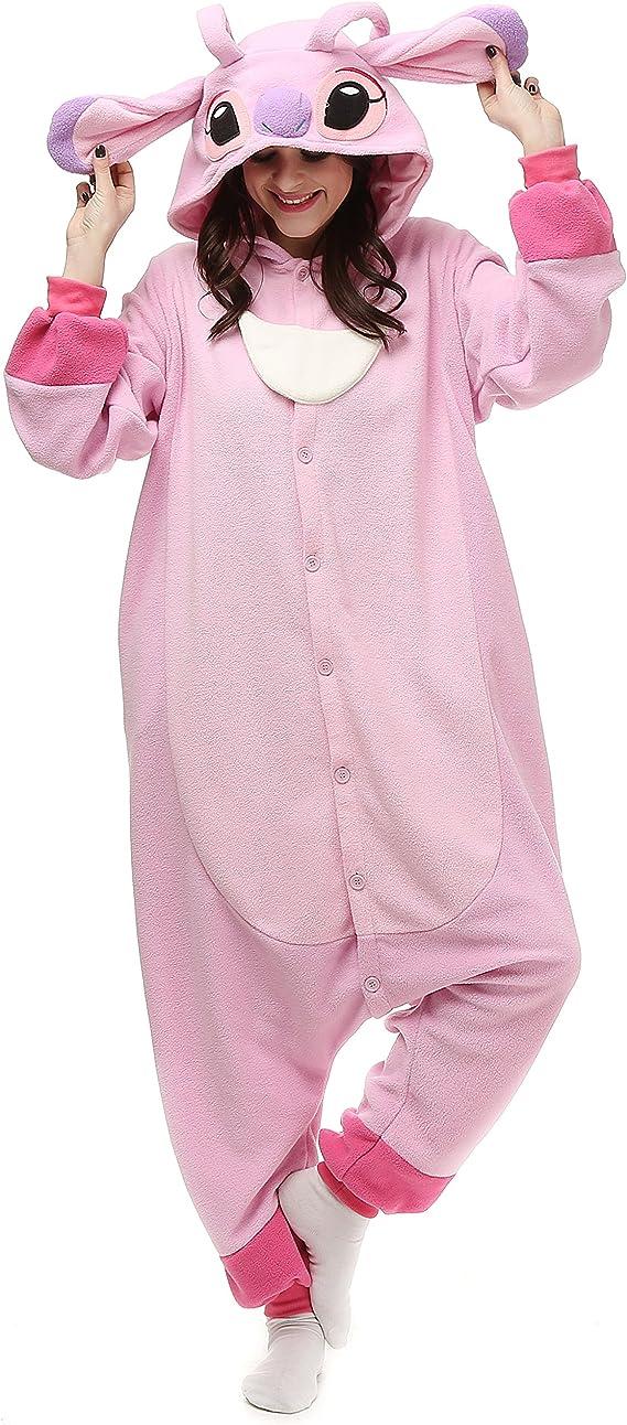Unisex Adult Animal Onesie11 Stitch Kigurumi Cosplay Pajama Costume Sleepwear @