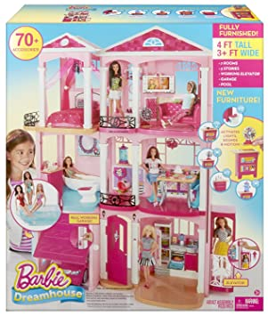 Mattel Barbie Doll Dream House Cjr47 Amazon Co Uk Toys Games
