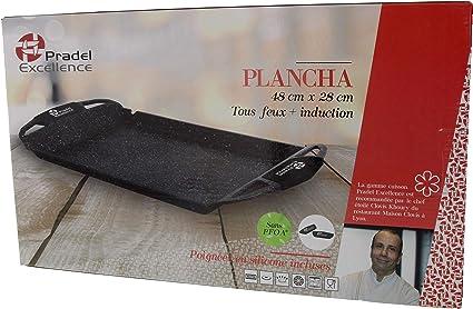 48 x 28 cm Plancha Fa/çon Pierre Dimensions 52402M Pradel Excellence