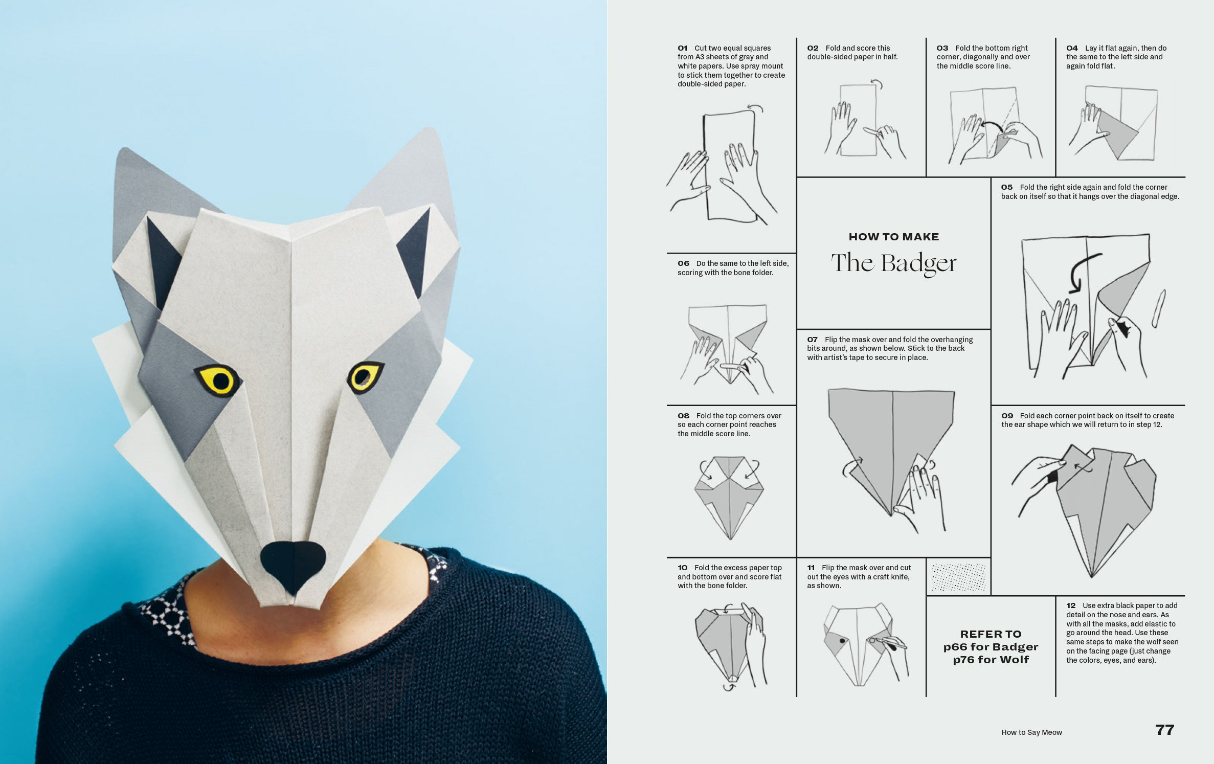 Moving Jaw Papercraft 3D Paper Mask — Quotes And Quotes