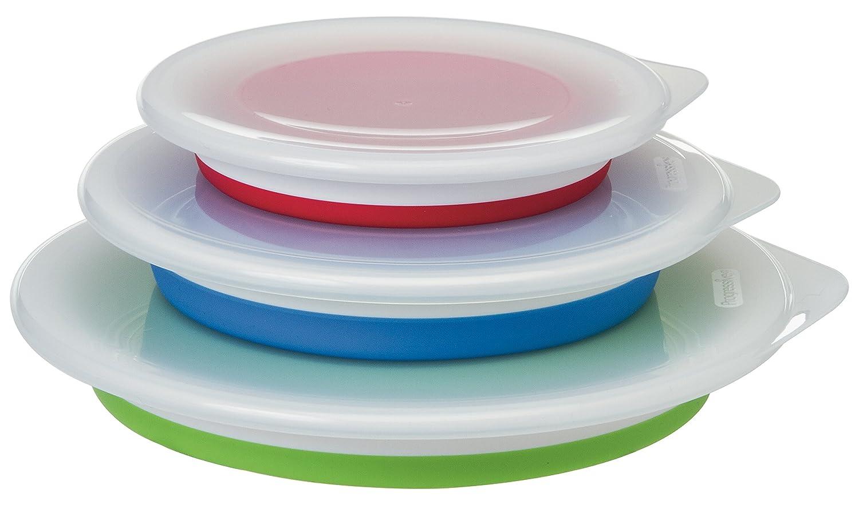 Set of 3 Progressive Prepworks Thinstore Collapsible Prep//Storage Bowls with Lids